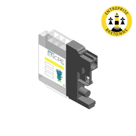 Cartouche BROTHER LC123/121Y - Jaune compatible