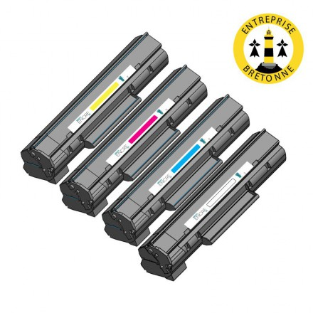 Pack HP 128A - 4 toners compatible