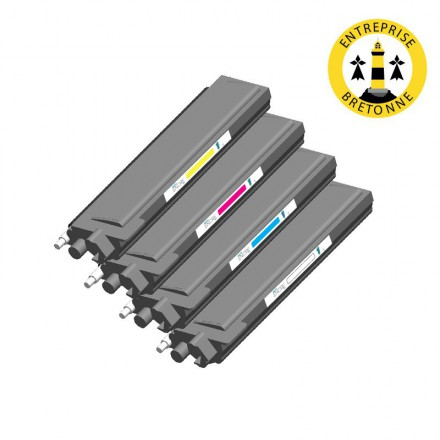 Pack BROTHER TN135 - 4 toners compatible