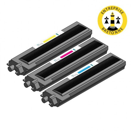 Pack BROTHER TN135 - 3 toners compatible