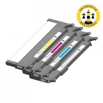 Pack SAMSUNG CLT-P4092C 4 toners compatible