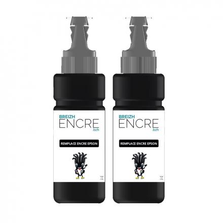 Recharge encre Pack EPSON T6641 x2 - Noir compatible