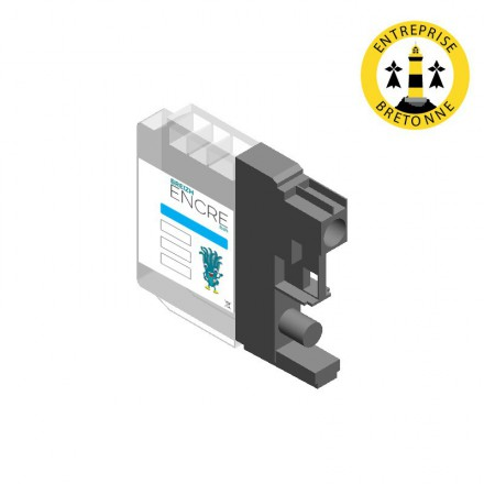 Cartouche BROTHER LC125XLC - Cyan compatible
