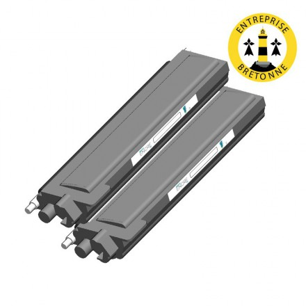 Pack BROTHER TN328BK x2 - Noir compatible
