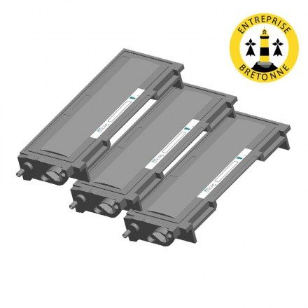 Pack BROTHER TN2005 x3 - Noir compatible