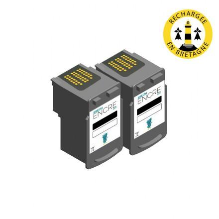Pack CANON PG-545 x2 - Noir compatible