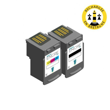 Pack CANON PG-545/CL-546 - Noir et couleurs compatible