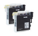 Pack BROTHER LC980BK x2 - Noir compatible