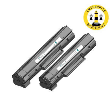 Pack DELL 593-10334 x2 - Noir compatible