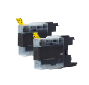 Pack BROTHER LC1280XLBK x2 - Noir compatible