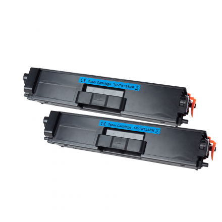 Pack BROTHER TN326BK x2 - Noir compatible