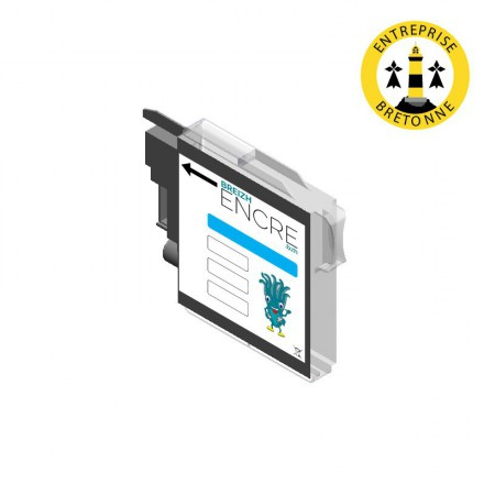 Cartouche BROTHER LC985C - Cyan compatible