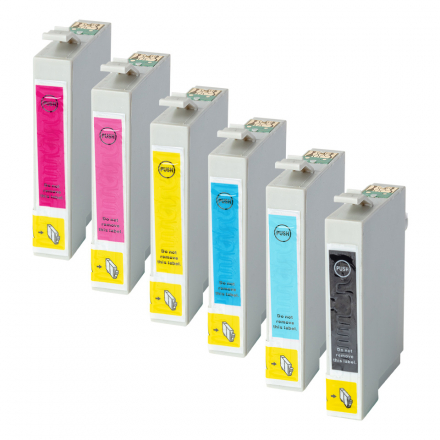 Pack EPSON T0807 - 6 cartouches compatible