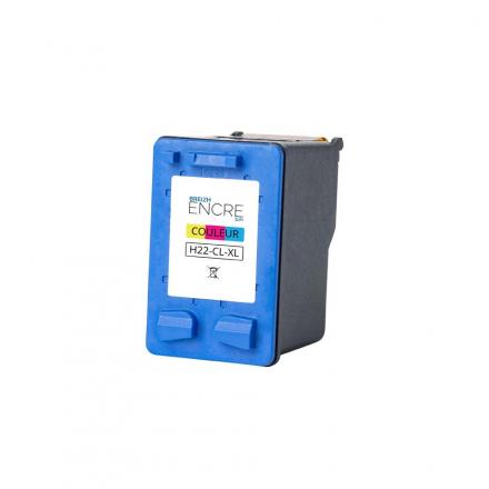 Cartouche HP 22 XL - 3 couleurs remanufacturée