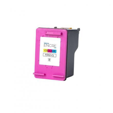 Cartouche HP 302 - 3 couleurs remanufacturée