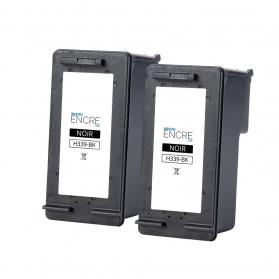 Pack HP 339 x2 - Noir remanufacturé
