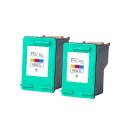 Pack HP 344 x2 - 3 couleurs remanufacturé