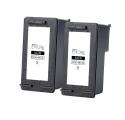 Pack HP 350 XL x2 - Noir remanufacturé