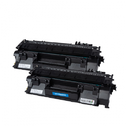 Pack HP 05A x2 - Noir compatible