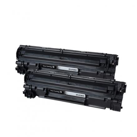 Pack HP 15X x2 - Noir compatible