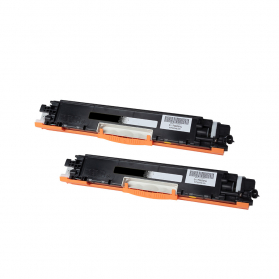 Pack HP 128A x2 - Noir compatible