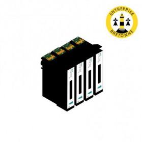 Pack EPSON 18 XL x4 - Noir compatible