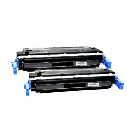 Pack HP 642A x2 - Noir compatible