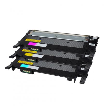 Pack SAMSUNG CLT-406 C/M/Y 3 toners compatible