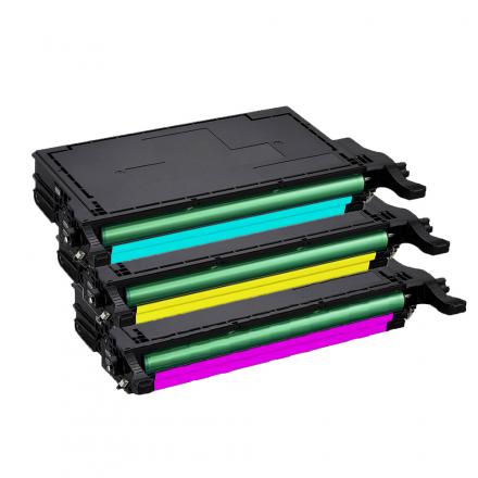Pack SAMSUNG CLT-6092S C/M/Y 3 toners compatible