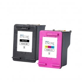 Pack HP 303 - Noir et couleurs remanufacturé