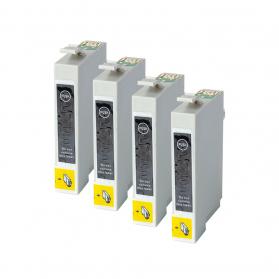 Pack EPSON T0711 x4 - Noir compatible