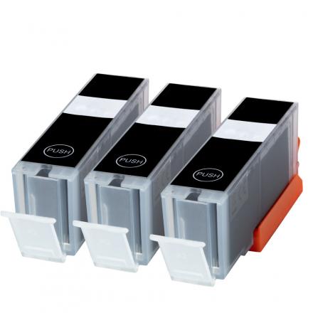 Pack CANON PGI-550 XL x3 - Noir compatible