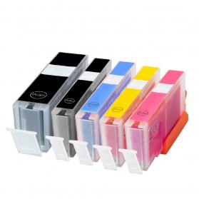 Pack CANON PGI-550 XL/CLI-551 XL - 5 cartouches compatible