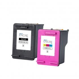 Pack HP 303 - Noir XL et Couleurs Standard remanufacturé