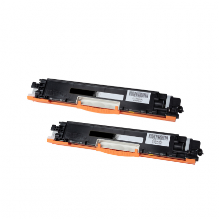 Pack HP 126A x2 - Noir compatible