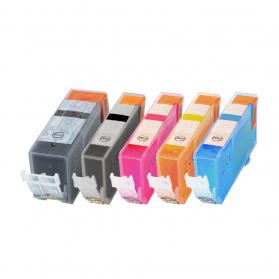 Pack CANON PGI-520/CLI-521 - 5 cartouches compatible