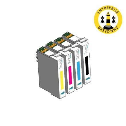 Pack EPSON T0445 - 4 cartouches compatible
