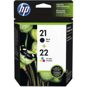 Pack HP 21/22 - Noir et couleurs ORIGINE
