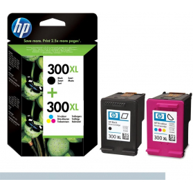 Pack HP 300 XL - Noir et couleurs ORIGINE