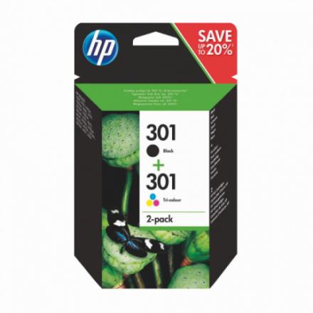 Pack HP 301 - Noir et couleurs ORIGINE