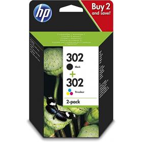 Pack HP 302 - Noir et couleurs ORIGINAL
