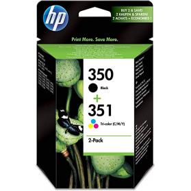 Pack HP 350/351 - Noir et couleurs ORIGINAL