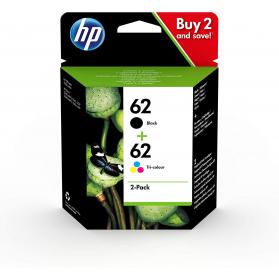 Pack HP 62 - Noir et couleurs ORIGINE