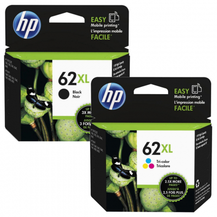 Pack HP 62 XL - Noir et couleurs ORIGINAL