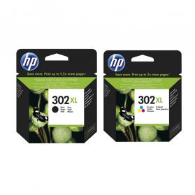 Pack HP 302 XL - Noir et couleurs ORIGINAL