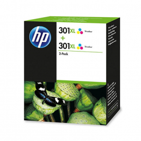 Pack HP 301 XL x2 - 3 couleurs ORIGINAL