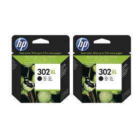 Pack HP 302 XL x2 - Noir ORIGINAL