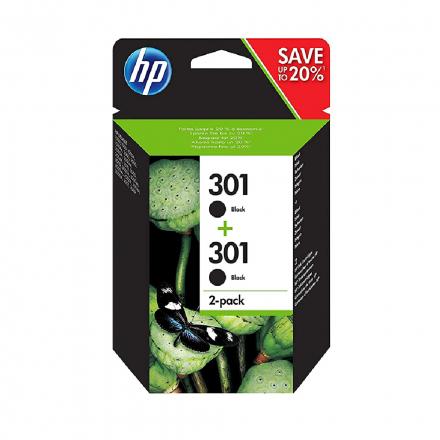 Pack HP 301 x2 - Noir ORIGINAL