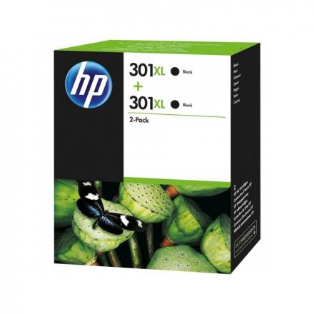 Pack HP 301 XL x2 - Noir ORIGINAL