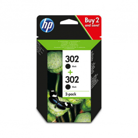 Pack HP 302 x2 - Noir ORIGINAL